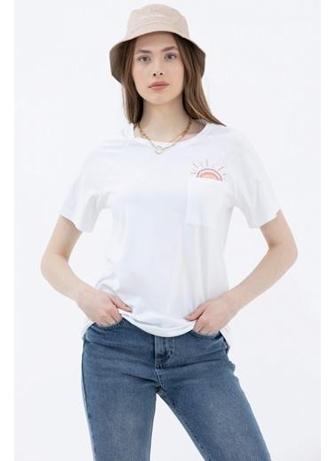 Sementa Cebi Nakış Detaylı Tshirt - Beyaz Beyaz